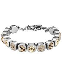 Dyrberg/Kern   Metallic Dyrberg/kern Swarovski Crystals Tennis Bracelet   Lyst