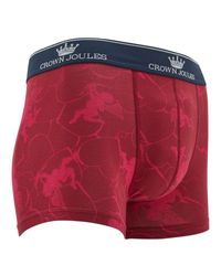 Joules Red Be My Beau Valentines Trunks for men