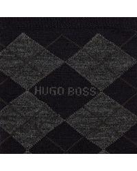 BOSS Blue Boss Argyle Wool Blend Socks for men