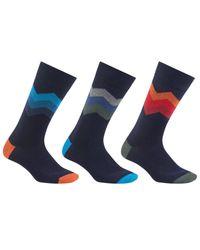 John Lewis - Blue Chevron Socks for Men - Lyst