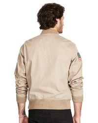 Ralph Lauren Natural Denim & Supply Cotton Chino Bomber Jacket for men