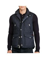 Ralph Lauren Blue Polo Diamond-quilted Gilet for men