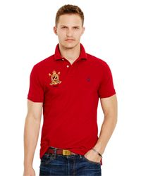 Polo Ralph Lauren Red Short Sleeve Custom Fit Featherweight Polo Shirt for men