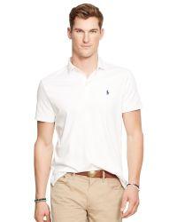 Polo Ralph Lauren | White Cotton Silk Custom Fit Polo Shirt for Men | Lyst