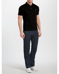 Ralph Lauren Black Polo Slim Fit Soft Touch Polo Shirt for men