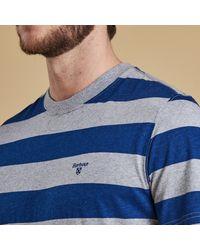 Barbour Blue Stannersburn Stripe Tee for men