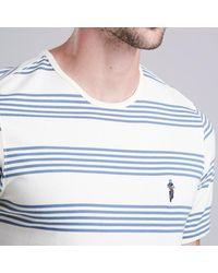 Barbour - Blue Steve Mcqueen Track Striped T-shirt for Men - Lyst