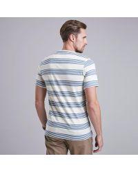 Barbour Blue Steve Mcqueen Track Striped T-shirt for men