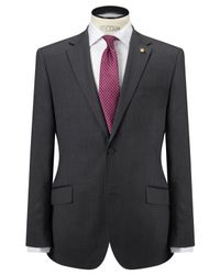Ted Baker Gray Coinonj Tailored Fit Suit Jacket for men