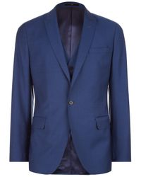 Jaeger Blue Textured Weave Slim Fit Suit Jacket for men