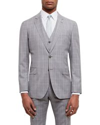Jaeger Gray Super 100s Wool Regular Fit Suit Jacket for men