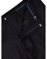 Jaeger Black Silk Linen Modern Suit Trousers for men