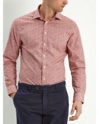 Jaeger Blue Cotton House Check Shirt for men