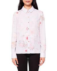 Ted Baker Pink Relar Chelsea Long Sleeve Shirt