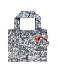 John Lewis Multicolor Sketch London Foldaway Bag