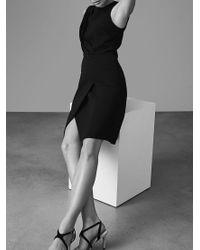 Reiss Black Josephine Sleeveless Dress