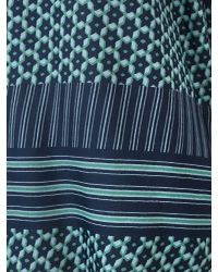 East - Blue Astrid Print Oversize Blouse - Lyst