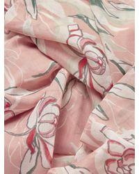 John Lewis Pink Vintage Floral Print Scarf