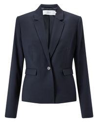 John Lewis Blue Esme Jacquard Jacket