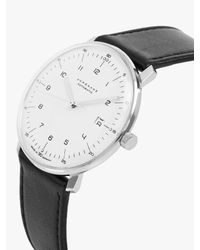 Junghans Black 027/4700.00 Men's Max Bill Automatic Stainless Steel Leather Strap Watch for men