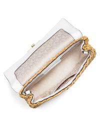 MICHAEL Michael Kors Brown Gabriella Straw Clutch Bag