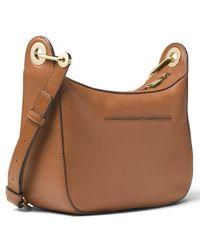 MICHAEL Michael Kors Brown Raven Leather Messenger Bag