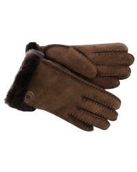 UGG Brown Bailey Shearling Gloves for men