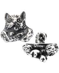 Trollbeads   Metallic Sterling Silver Fantasy Cat Pendant   Lyst