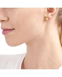 Auren - Yellow Topaz Square Stud Earrings - Lyst