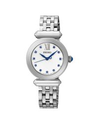 Seiko Metallic Srz399p1 Women's Crystal Set Stainless Steel Bracelet Strap Watch