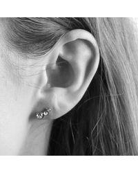 Dyrberg/Kern - Metallic Dyrberg/kern Small Swarovski Crystal Stud Earrings - Lyst