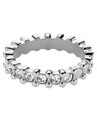 Dyrberg/Kern | Metallic Dyrberg/kern Emily Swarovski Crystai Ring | Lyst