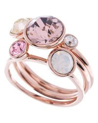 Ted Baker | Pink Jackie Jewel Clustered Ring | Lyst