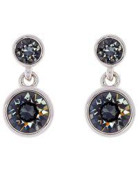 Karen Millen   Metallic Swarovski Crystal Dot Drop Earrings   Lyst
