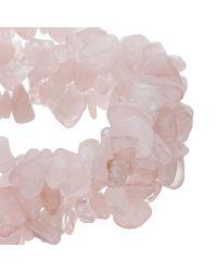 John Lewis - Pink Quartz Beaded Stretch Bracelet - Lyst