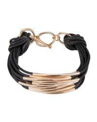 John Lewis   Black Multi Strand Tube Layered Bracelet   Lyst