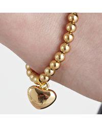 John Lewis - Metallic Georgie Bead Heart Bracelet - Lyst