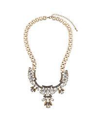 John Lewis | Metallic Art Deco Glass Crystal Short Necklace | Lyst