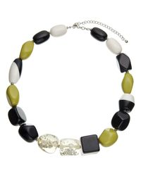 John Lewis - Black Beaded Statement Necklace - Lyst