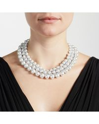 John Lewis - White Graduating Faux Pearl Collar Necklace - Lyst