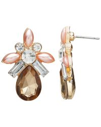 John Lewis   Multicolor Faux Pearl And Glass Crystal Drop Earrings   Lyst