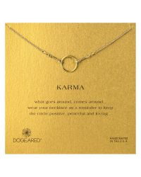Dogeared | Metallic Gold Plated Original Karma Necklace | Lyst