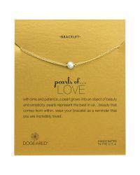 Dogeared - Metallic Pearls Of Love Friendship Happiness Bracelet - Lyst
