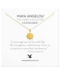 Dogeared - Metallic Maya Angelou Be Courageous Starburst Necklace - Lyst