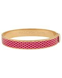 Halcyon Days   Pink 18ct Gold Plated Enamel Salamander Bangle   Lyst