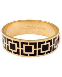 Halcyon Days   Metallic 18ct Gold Plated Maya Bangle   Lyst