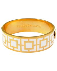 Halcyon Days | Metallic 18ct Gold Plated Maya Bangle | Lyst