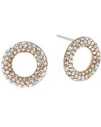 Michael Kors   Metallic Pave Crystal Circle Stud Earrings   Lyst