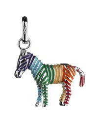 Links of London - Metallic Rainbow Zebra Sterling Silver Charm - Lyst
