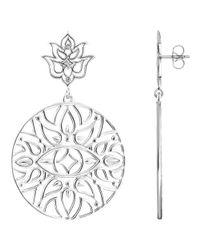 Thomas Sabo   Metallic Glam & Soul Lotus Flower Circle Drop Earrings   Lyst